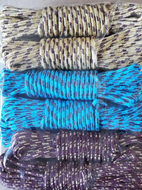طناب نخی رنگی