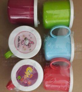 لیوان پلاستیکی درب دار کودک پخش و فروش عمده لیوان کودک فانتزی مدرسه و کیفی