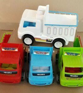 کامیون ایسوزو باری پخش اسباب بازی پسرانه پلاستیکی