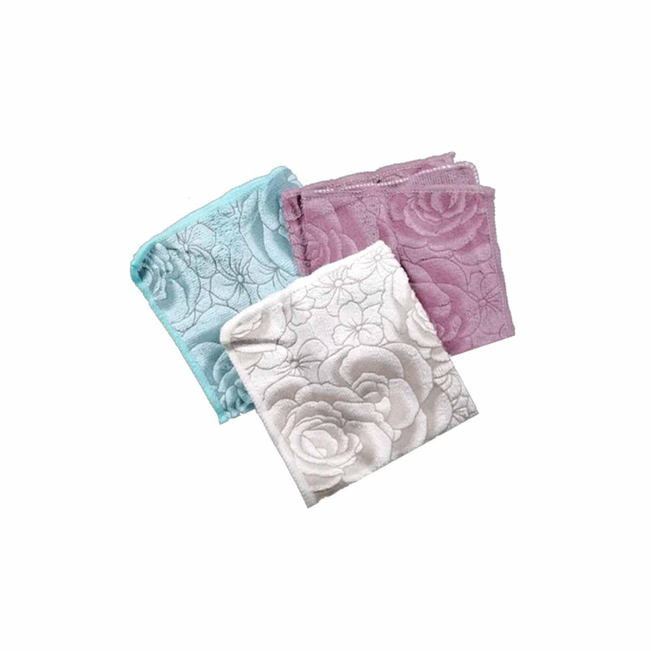 دستمال میکروفایبر گلدار پخش و فروش عمده دستمال نظافتی جادویی